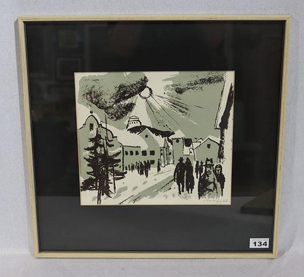Lot 134: Gemälde ÖL/LW 'Dahlien in Vase', signiert Scha...