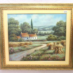 Lot 233: Reliefbild 'Herrenbüste', Replik in 6-eckigen ...