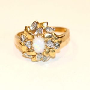 Lot 34: Sterlingsilber Ring mit Bernstein ?, Gr. 59...