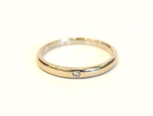 Lot 52: 18 k Gelbgold Ring mit 10 Diamanten, 7,9 gr., ...