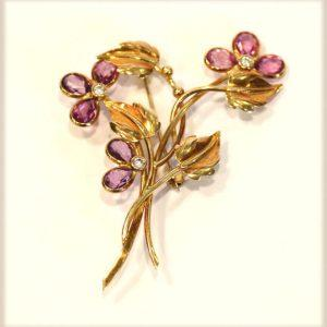 Lot 72: 14 k Weißgold Ring mit 0,50 ct. Diamant, wess/...